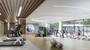 canopy towers exercise room and yoga studio