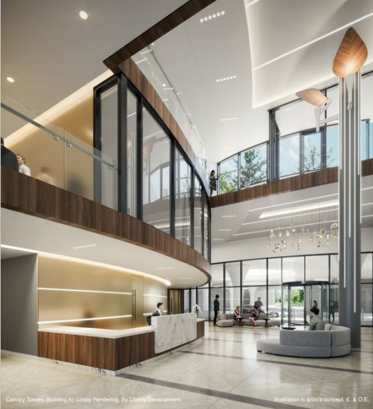 canopy towers lobby rendering
