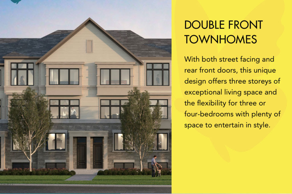 Double Front Townhomes Symphony Towns Oshawa